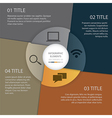 Infographics circle paper vector image vector image