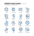 line credit and loan icons