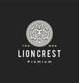 lion crest round emblem hipster vintage logo icon vector image vector image