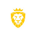 lion king shield logo vector image vector image
