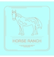 Logotype of horse ranch vector image