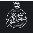 Merry Christmas and Happy New Year lettering vector image vector image
