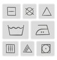 monochrome icons with washing symbols vector image