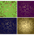 natural backgrounds with gradient - set vector image vector image