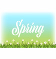 nature spring landscape background with green vector image