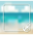 nautical card template with anchor vector image vector image