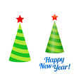 new year christmas tree in form of holiday cap vector image vector image
