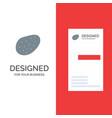 potato food grey logo design and business card vector image vector image