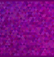 purple abstract mosaic triangle tile pattern vector image vector image
