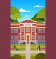 school building exterior empty front yard with vector image vector image