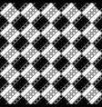 seamless monochrome geometrical diagonal square vector image vector image