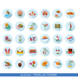 set of modern flat travel icons vector image vector image