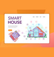 smart house concept banner vector image vector image