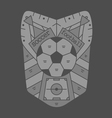 soccer emblem monochromeVS vector image