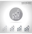 Sociology outline icon vector image vector image