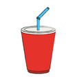 soda in palstic cup vector image vector image
