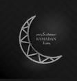 square banner ramadan kareem vector image vector image