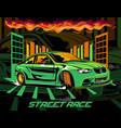 street race vector image vector image