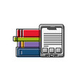 tablet and books design vector image vector image