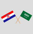 the croatian and ksa flags vector image vector image