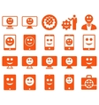 Tools options smiles displays devices icons vector image