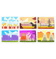 traditional and innovative ecological energy vector image vector image