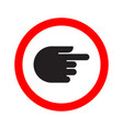 traffic indicator turn sign hand vector image