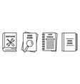 user guide book icons set outline style vector image vector image