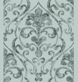 vintage baroque ornamented background watercolor vector image vector image