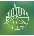 wind turbine linear icon eco generating vector image