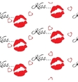 Seamless pattern with red color lips vector image