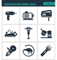 Set of modern icons Construction Power vector image