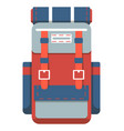 camping and travel backpack icon vector image