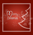 merry christmas postcard shiny garland with fir vector image