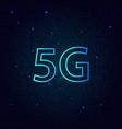 5g standard of modern signal transmission vector image