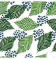 abstract exotic jungle plants texture wallpaper vector image vector image