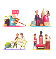 auction situations design concept vector image vector image