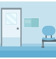 Background of hospital corridor vector image