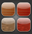 Backgrounds with wooden texture for the app icons vector image