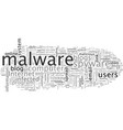 beware malware infected blogs vector image vector image