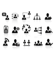 black social communication icons vector image