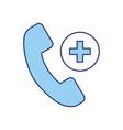 blue emergency call cartoon vector image