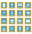 brazil travel symbols icons azure vector image vector image