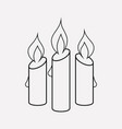 candle icon line element of vector image