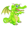 cartoon dragon mascot pointing vector image vector image