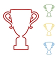 Champions CupChampions Cup Set of line icons vector image vector image