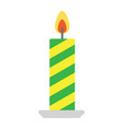 christmas candle flat icon new year and christmas vector image