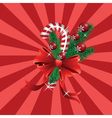 Christmas candy cane red background vector image vector image