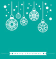 christmas card template vector image
