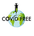 covid19-19 free symbol flat style vector image